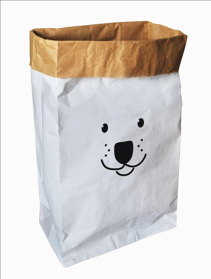 #Storage #Bag #Bear #Print #Paper #Kidsroom Opbergzak beer print wit 35x65 from www.kidsdinge.com www.facebook.com/pages/kidsdingecom-Origineel-speelgoed-hebbedingen-voor-hippe-kids/160122710686387?sk=wall http://instagram.com/kidsdinge #Kidsdinge #Toys #Speelgoed