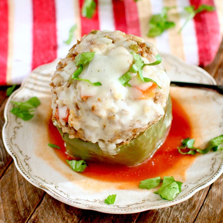 These Instant Pot Italian Stuffed Peppers are made with ground beef, mozzarella cheese, Italian seasoning, onions and tomato sauce. Easy and so delicious!