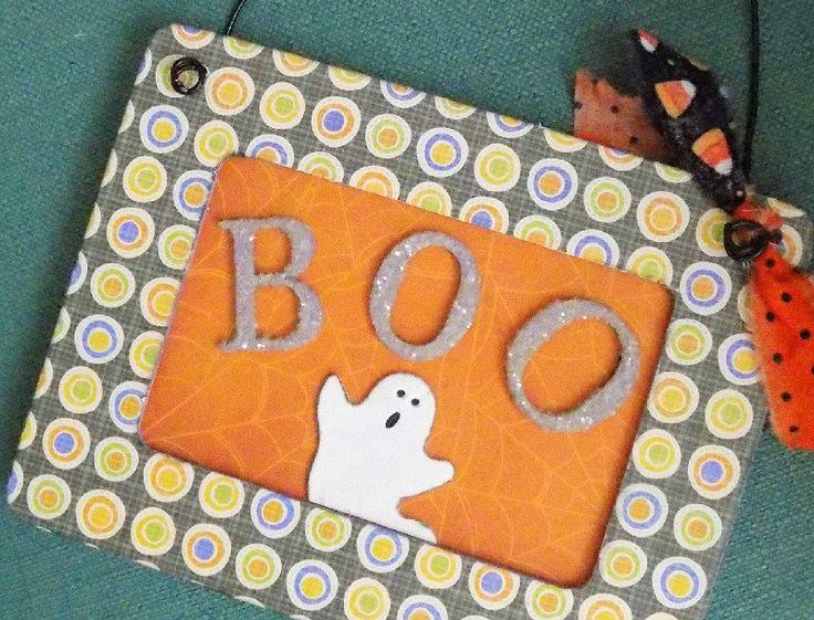 Halloween Sign, Wood Halloween Boo Sign, Homemade Sign, Boo Hanging Sign, Halloween Ghost Sign, Sign for Halloween, Halloween Wall Sign by Artsycardsee on Etsy
