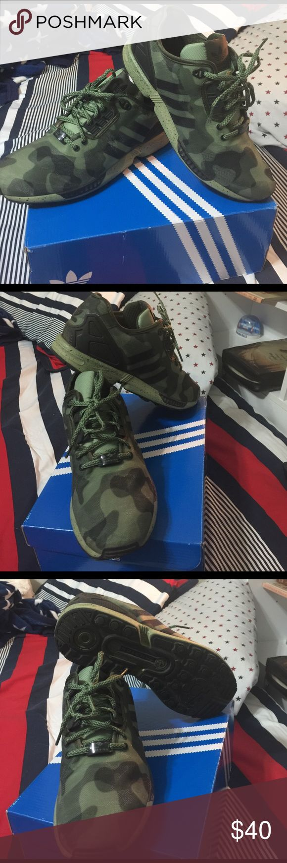 ADIDAS CAMO SNEAKERS SIZE 9 NICE CAMO SNEAKERS ADIDAS MENS SIZE 9 BEAUTIFUL CONDITION Adidas Shoes Sneakers