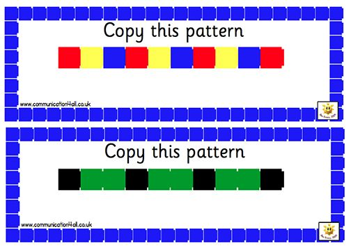 Here's a series for pattern strips for students to create.