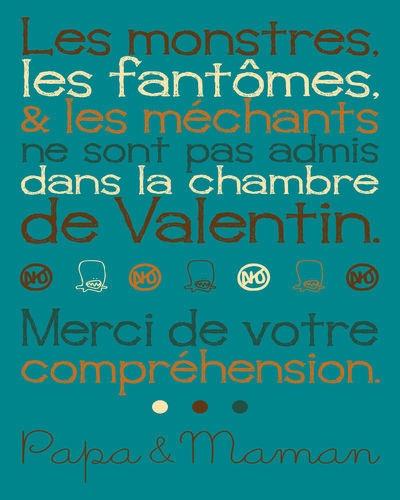 """Poster déco """"Interdit aux monstres"""""""