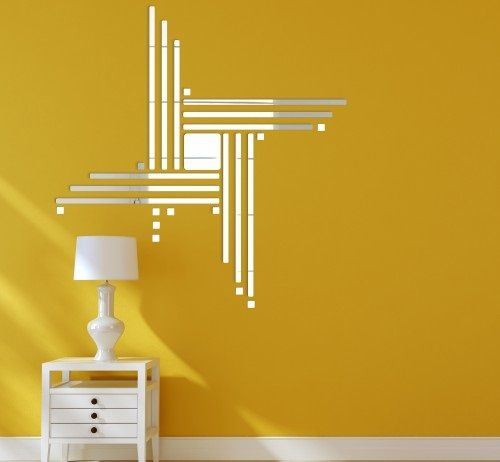 Dekoračné nalepovacie zrkadlo do obývačky