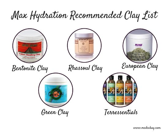 max hydration regimen recommended clay list