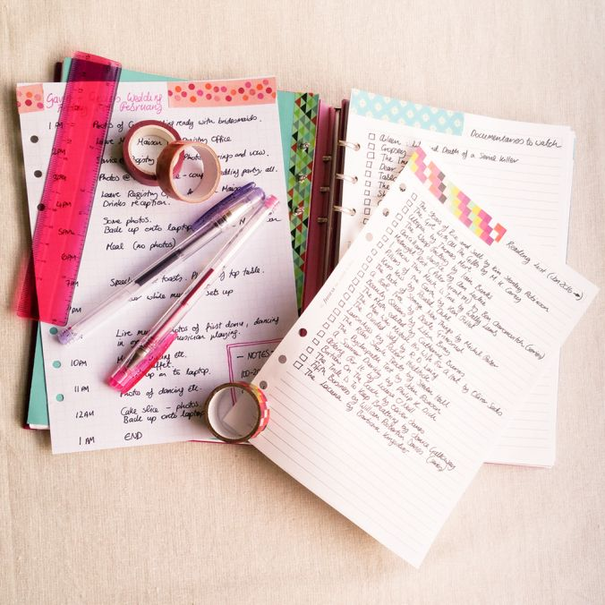 Filofax Clipbook Planner and Bullet Journal Set-Up Projects