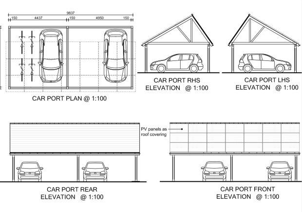 Solar Carport Plan 14oct11 Jpg 620 215 435 Carport Pinterest