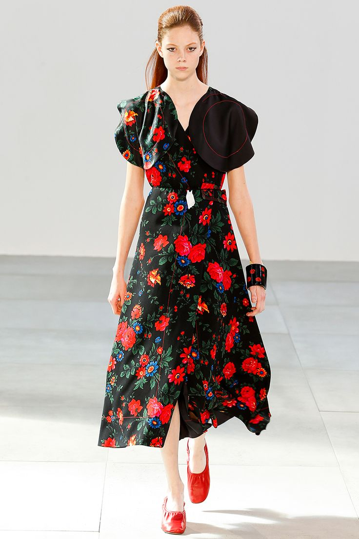 Céline Spring 2015 RTW Floral dress