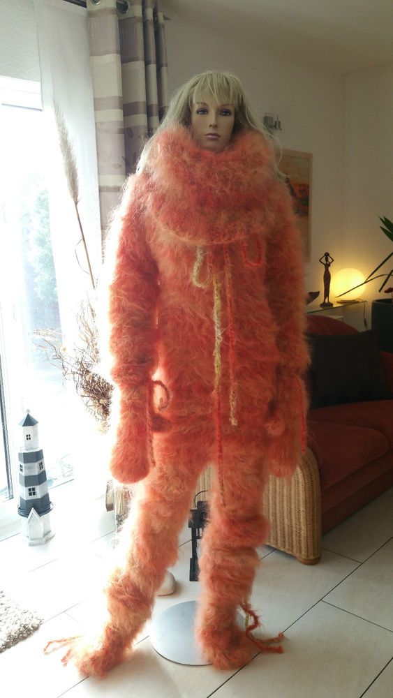TRAUMMOHAIR C1o Longhair Mohair Catsuit Sweater Overall ...