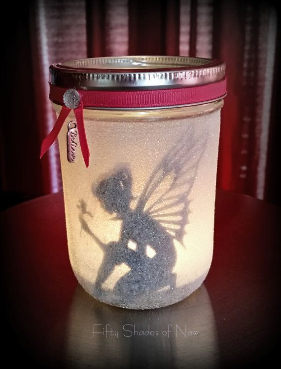 Fairy in a jar Candle holder lantern night by ...