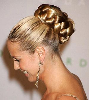 Braided Bun - Jessica Simpson  Hairstyles : Different Types Of Buns #hair, #hairstyles, #fashion, #hairtrends, #glamour, #glamor, #buns, #hairbuns, #longhair, #shorthair, #blond, #brunette