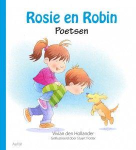Dit zijn Rosie en Robin. Ze zijn een tweeling. Ze groeiden samen in mama's buik, dicht bij elkaar.  Nu zijn Rosie en Robin al groot, al bijna drie jaar.  Ze spelen meestal samen en soms maken ze ruzie. En mama's buik is allang weer plat. ISBN: 9789402600421