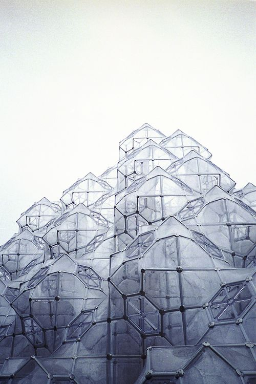 Hakone Summer 2011  Open Air Museum, Curved Space Diamond Structure -||  http://www.pinterest.com/lcottereau/architecture/