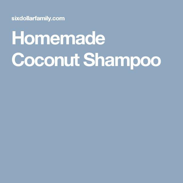 Homemade Coconut Shampoo