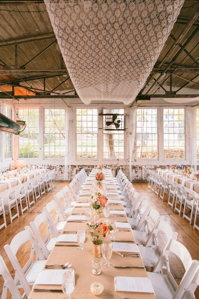 Connecticut Wedding And Event Planner Specializing In Unique Rustic Chic Tented Events Blush Gold Glitter Lace Factory Industrical
