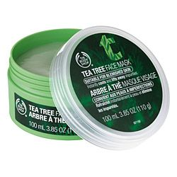 the body shop tea tree face mask. perfect for oily skin ! best results when used once a week