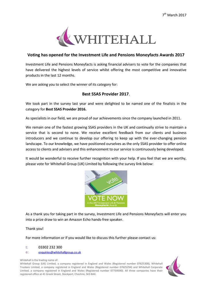 Whitehall press release for the #ILPAwards voting process, inviting contacts to participate.