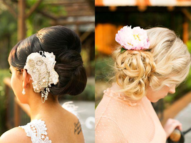 Spring wedding hair style. Styled Shoot: Hinterland Lake Wedding | The Bride's Tree - Sunshine Coast Wedding