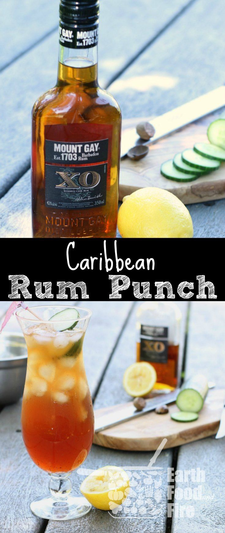 This Bajan Rum Punch recipe is easy to make and requires no special skills. Whip this drink up for Canada Day or any summer party! via @earthfoodfire