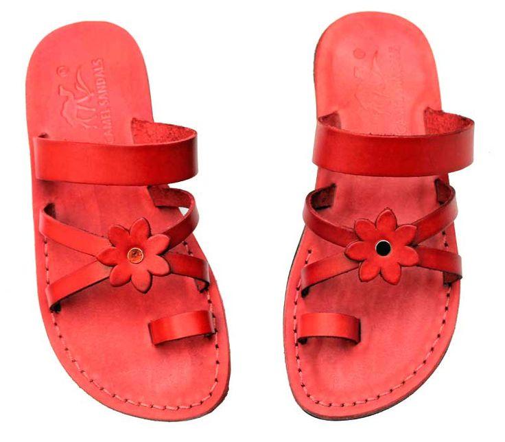 Red leather sandals | 50 | Jerusalem
