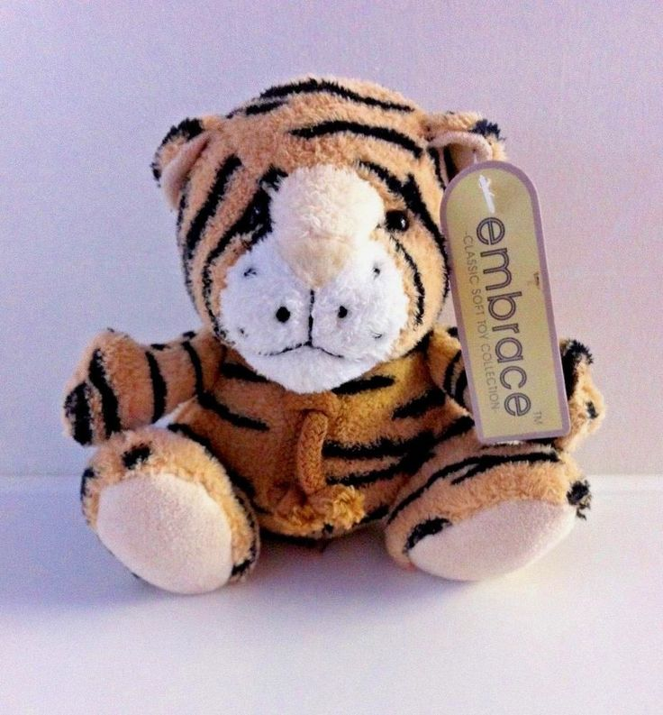 EMBRACE Soft Toy Tiger. Classic Soft Toy Collection. Handmade. Cute.