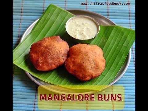 Mangalore Buns Recipe With Coconut Chutney – Banana Poori Recipe | Chitra's Food Book