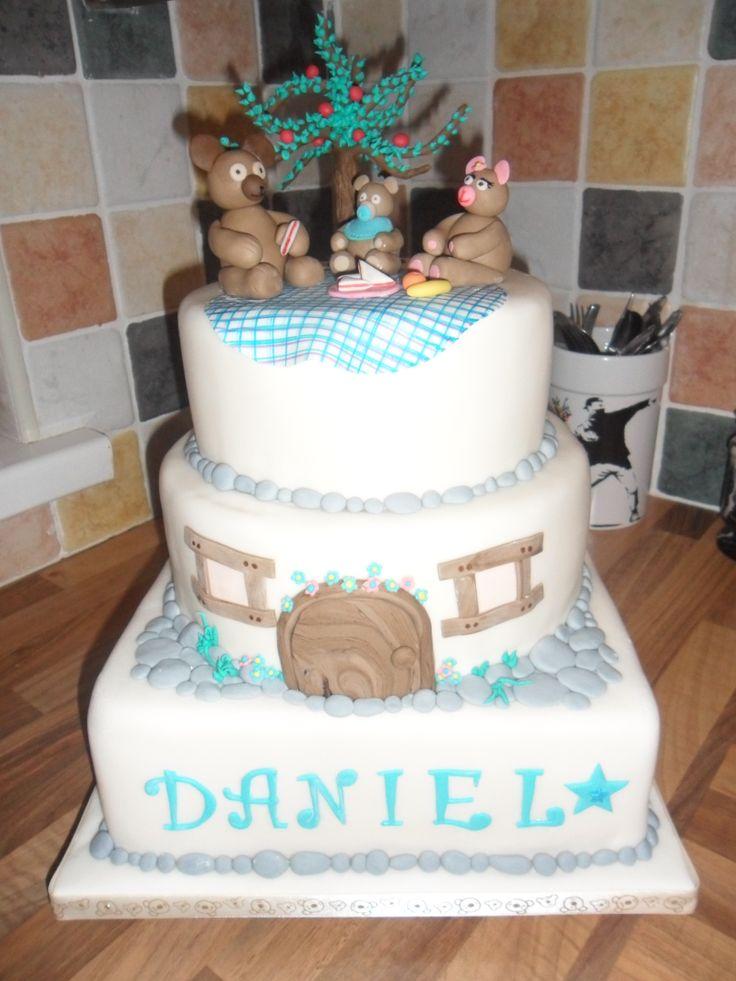 my nephews christening cake