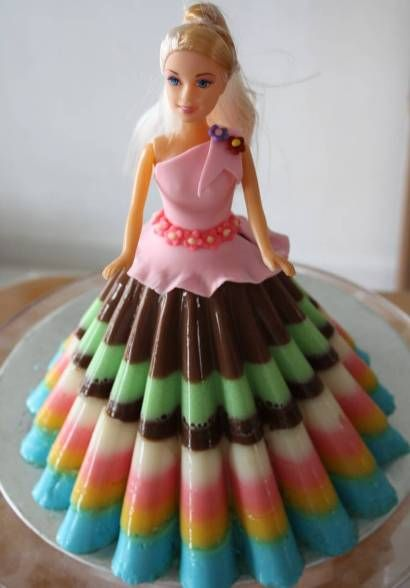 Barbie Doll Jelly Cake Recipe