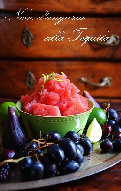Paprika & Paprika: Neve d'anguria alla Tequila _ Watermelon sorbet with Tequila(scroll down to English)