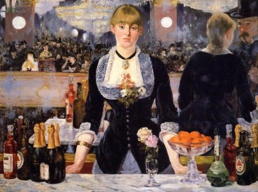 """""""A Bar at the Folies Bergere"""" by Edouard Manet (1882)"""