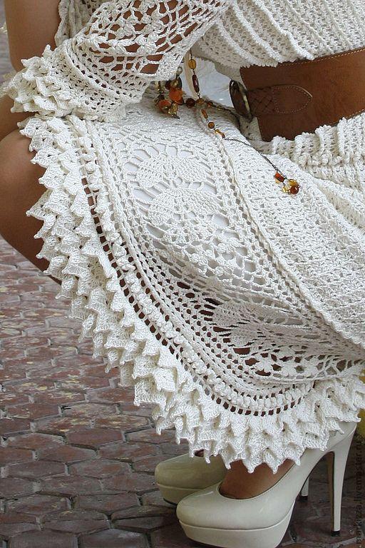 Шарлотта - белый,платье крючком,Ванесса Монторо,шарлотта,хлопок,хлопок 100%