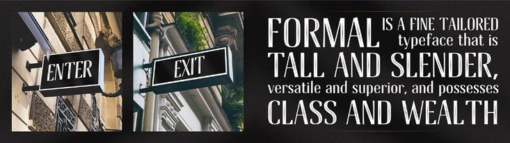 Have a look at Formal Inline Free Font Download! The font is tall and slender yet versatile, it's perfect for the in store signage and branding of a tuxedo store or unique, contemporary store branding and logo. Don't hesitate to get it for free and make your designs stand out from the crowd. Enjoy!