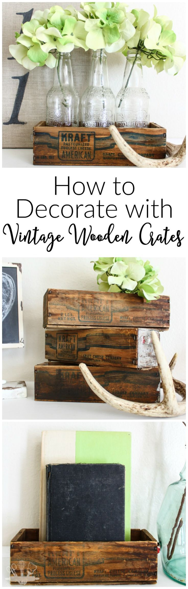 How to Decorate with Vintage Wooden Crates