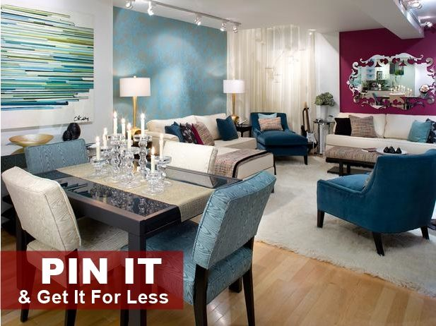 PIN IT U0026 GET IT For Less U2013 Blue Peacock Living Room   Click This Image