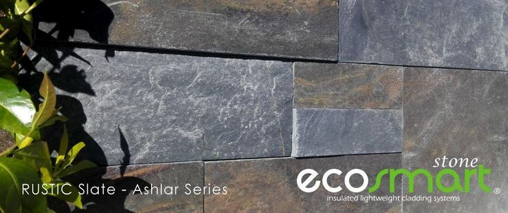 Rustic slate veneer cladding in Ashlar style and natural finish. Country charm at its best.