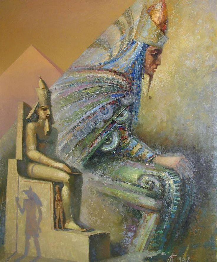 Egyptian God Painting - Shadows by Valentina Kondrashova