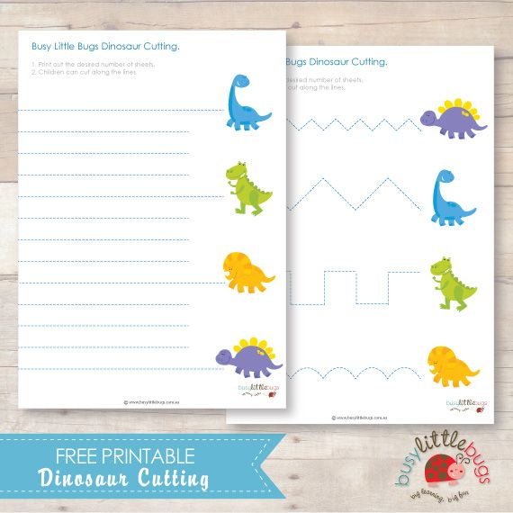 Free Dinosaur Cutting from Busy Little Bugs