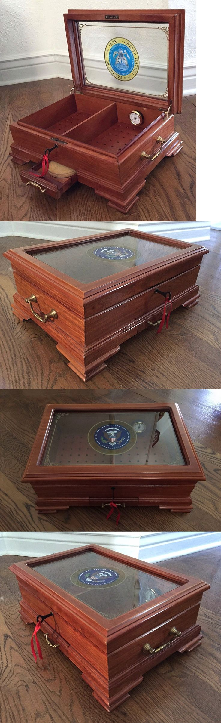 Bill Clinton: Presidential Seal 1997 President Bill Clinton Era White House Gift Cigar Humidor -> BUY IT NOW ONLY: $2495 on eBay!