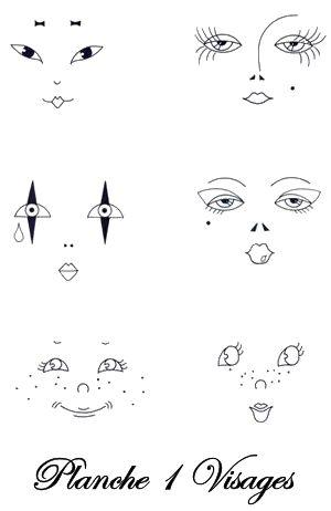 visages poupees transfert