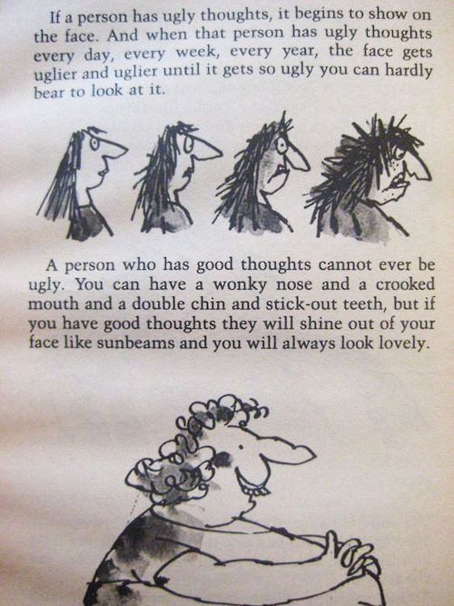 Wisdom from Roald Dahl.