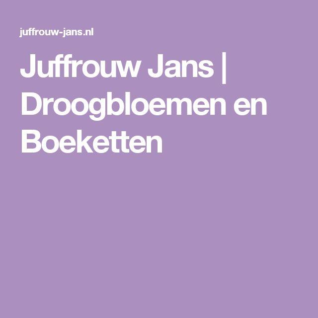 Juffrouw Jans | Droogbloemen en Boeketten