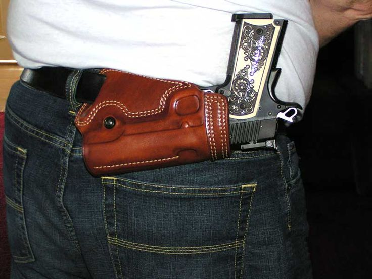 Galco sob holster. Galco makes good products but this isn't one of them. I adamantly oppose this style of carry for anything other than fashion in Tacticool Quarterly...