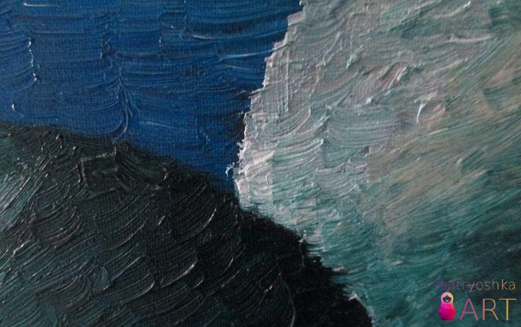 Mój pierwszy w życiu obraz: K1- Kosmos 1, Piaseczno 2012, akryl- olej, 80 x 100 /sprzedany/