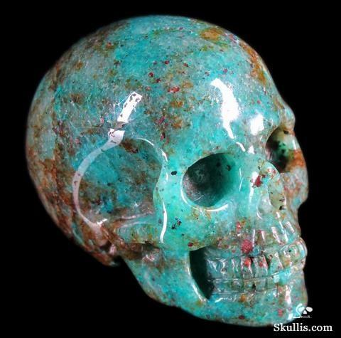 ☆ Chrysocolla Crystal Skull ☆