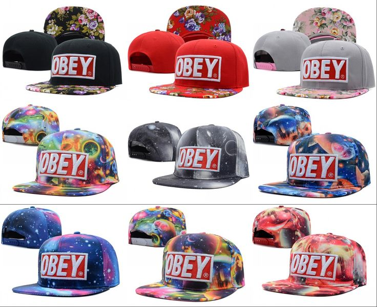 2013 new 1 pcs obey adjustable floral baseball snapback hats and caps for men/women flower under brim hat sports hip pop cap-inBaseball Caps...