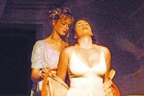 "Princess Maria Theresia (left) and actress Christine Neubauer (right) during the Castle Festival in the play ""The Bernauerin"".... Prinzessin Maria Theresia (l.) und die Schauspielerin Christine Neubauer (r.) während der Schlossfestspiele in dem Stück ""Die Bernauerin""."