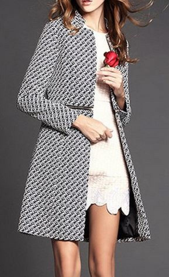 Love the Detachable Zipper Feature! Chic and Stylish Vintage Style Long Sleeves Jacquard Zippered Detachable Coat For Women #Chic #Stylish #Jacquard                                                                                                                                                      More