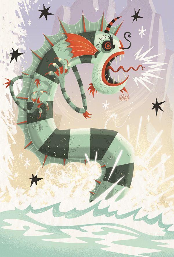 Irish Mythology by Steve Simpson, via Behance