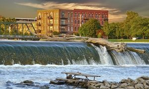 Groupon - Stay with $ 20 Dining Credit per Stay at Riverfront Hotel in Grand Rapids, MI. Dates into July. in Grand Rapids, MI. Groupon deal price: $44.42