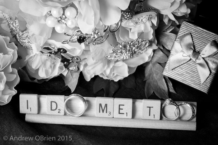 B & D - Andrew O'Brien Photography, rings, scrabble letters, flowers
