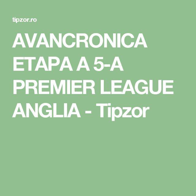 AVANCRONICA ETAPA A 5-A PREMIER LEAGUE ANGLIA - Tipzor